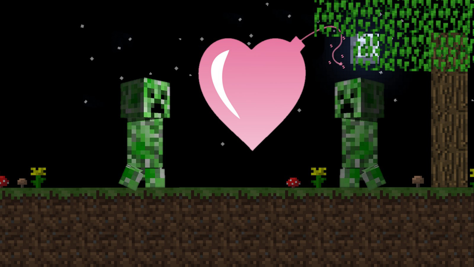 Minecraft Wallpaper Hd Download Minecraft Wallpaper Creepers Bombing Exploding Love