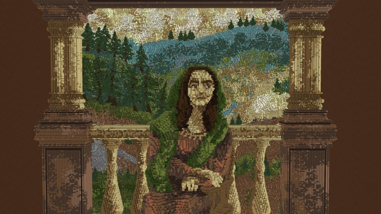 Cuadro La Mona Lisa Mona Lisa Crafted Minecraft