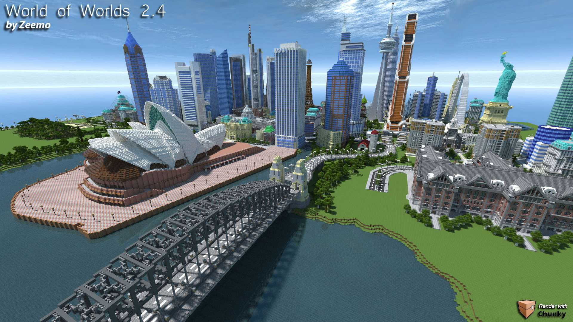 World of Worlds 2.4  Minecraft Building Inc