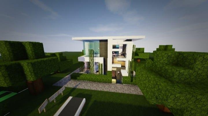 themodern pvper modern house minecraft house design building small house building small house comfortable design