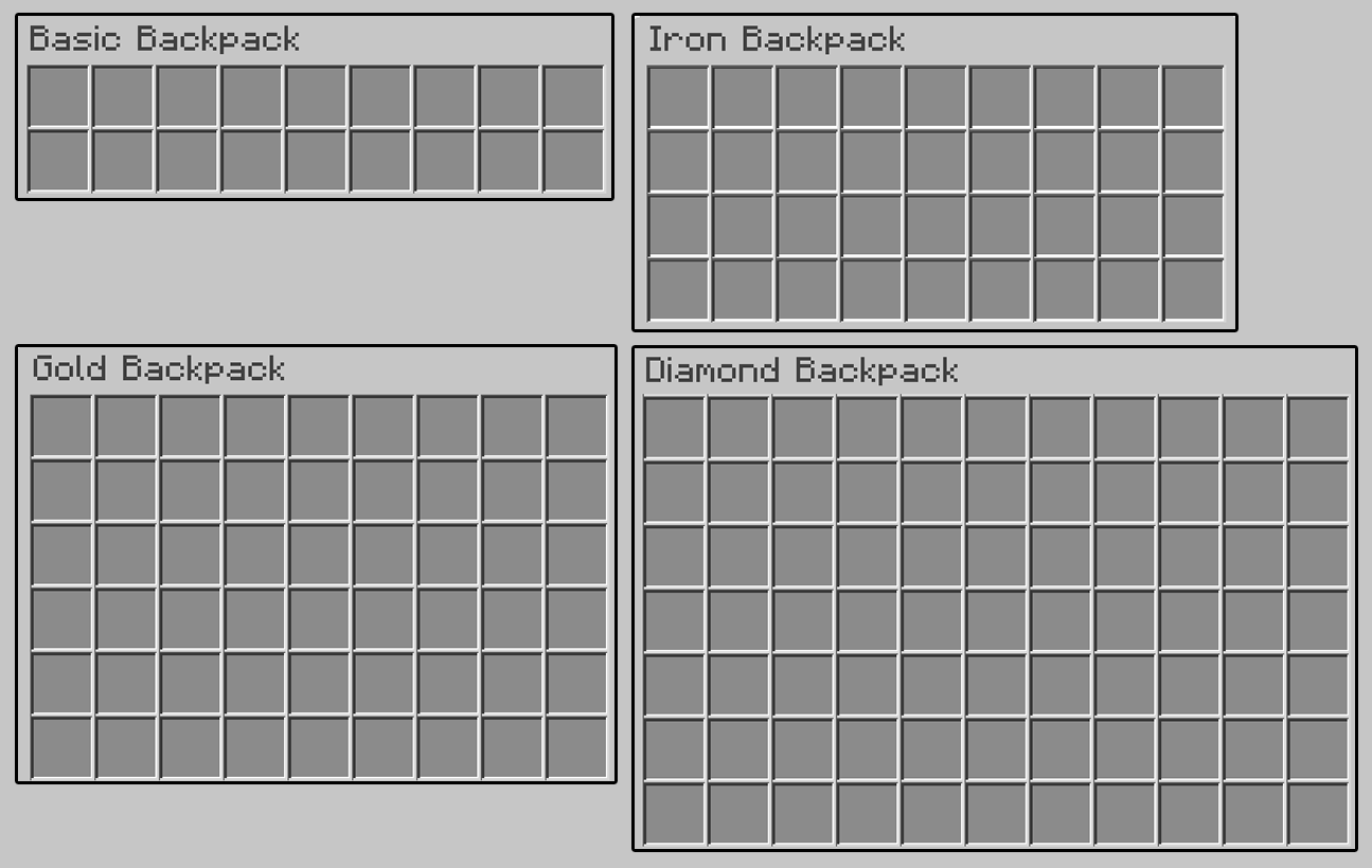 Expandable Table Iron Backpacks | Minecraft Mods