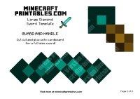 Minecraft Sword Template