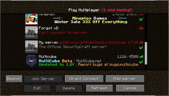 Mc dating server ip