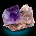 Single Amethyst Crystal on Matrix