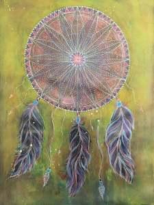 dreamcatcher, zentangle inspired art