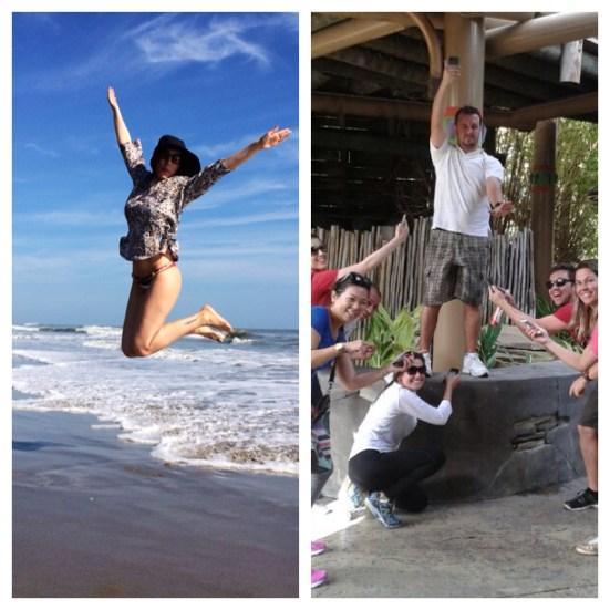 Salto em Cocoa beach; O amigo Walter compartilhando o sinal de internet com os amigos que moram no Brasil (fofinho)