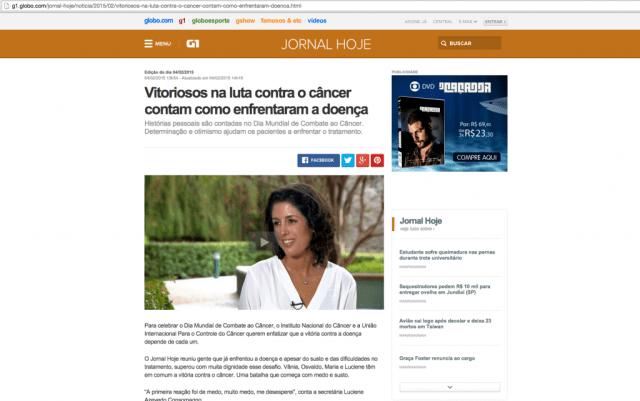 jornal Hoje globo Vânia castanheira