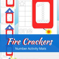 Free Printable Preschool Fire Cracker Number Activity Pages