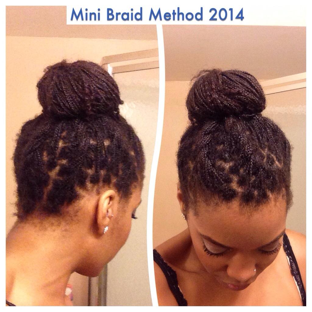 Style diary flat twist bun on mini braids the mini braid method 20140805 172301g baditri Images