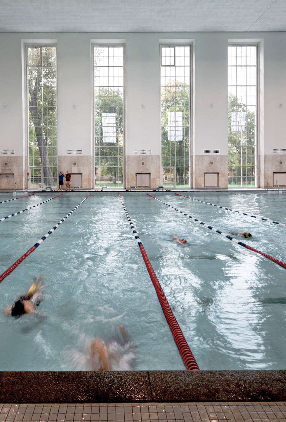 Swimming Pools In Berlin Veauthier Meyer Architects Renovates Nazi Era Swimming Pool Hall