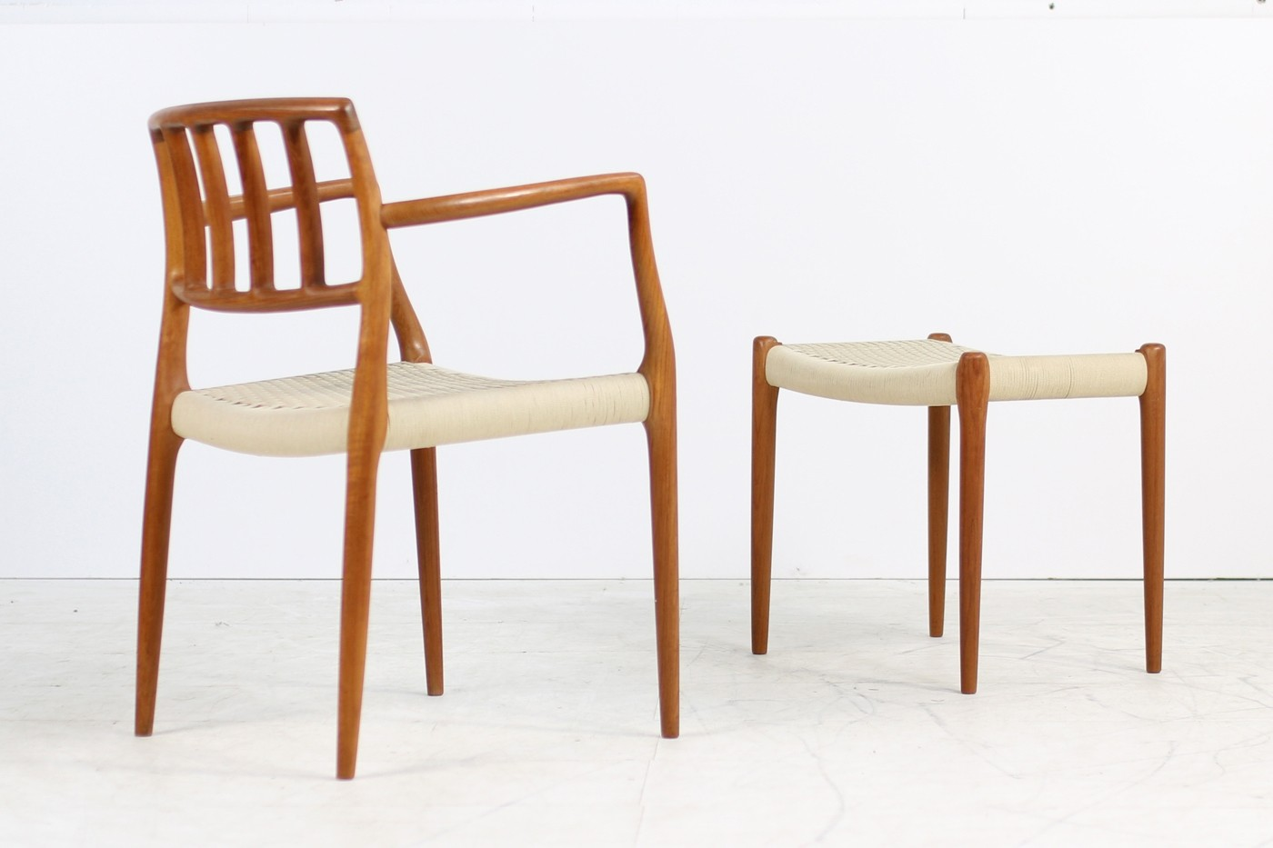 Armlehnstuhl Modern 1960s Niels O. Möller Teak Armchair Model 66 Danish Modern - Objects