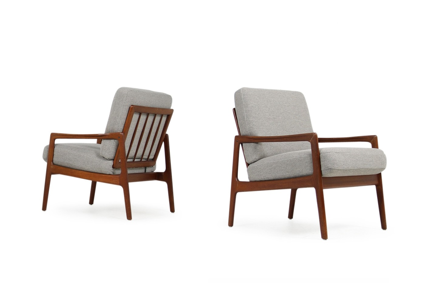 Teak Sessel Danish Pair Of 1960s Danish Modern Teak Vintage Easy Chairs
