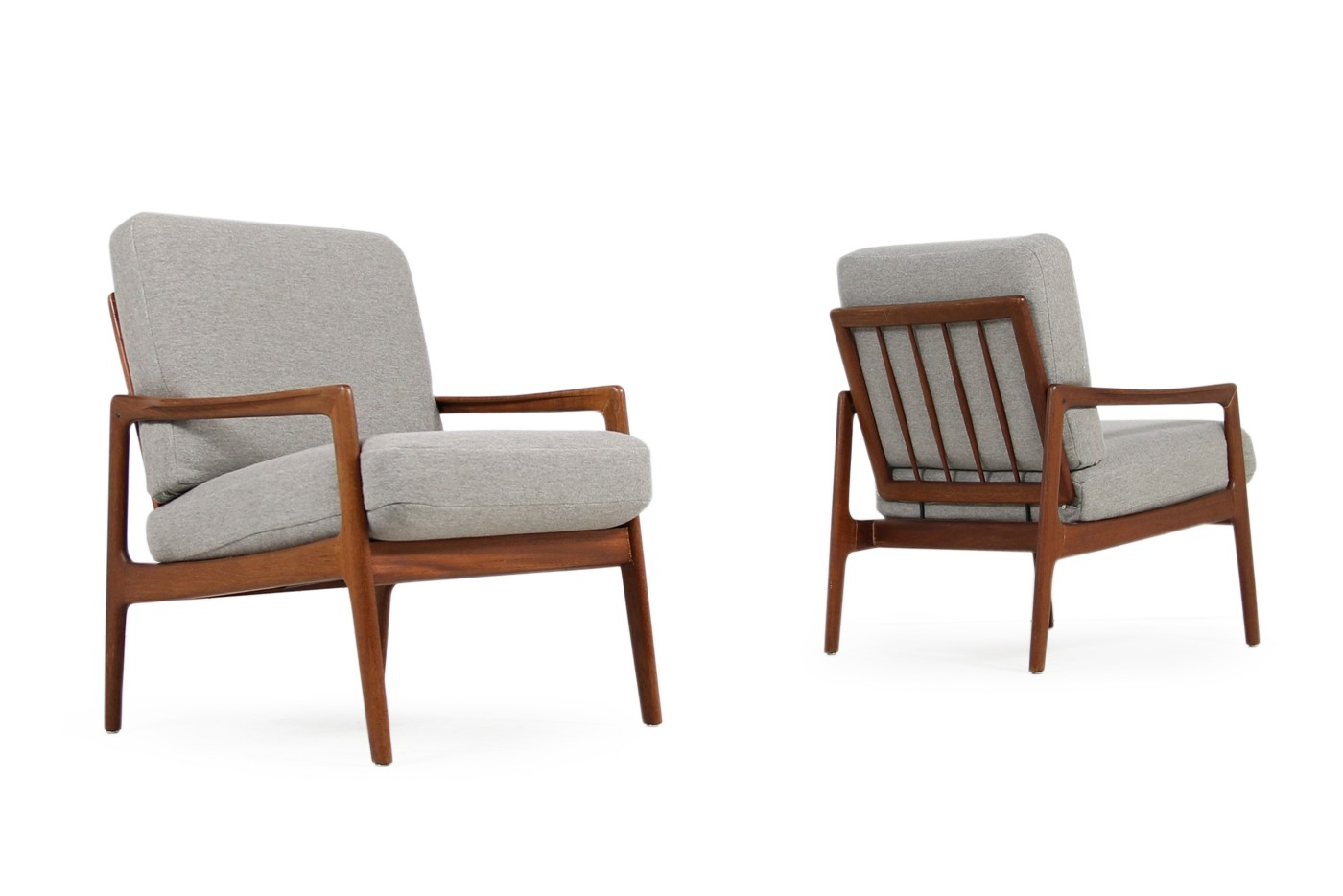 Denmark Sessel Pair Of 1960s Danish Modern Teak Vintage Easy Chairs Objects