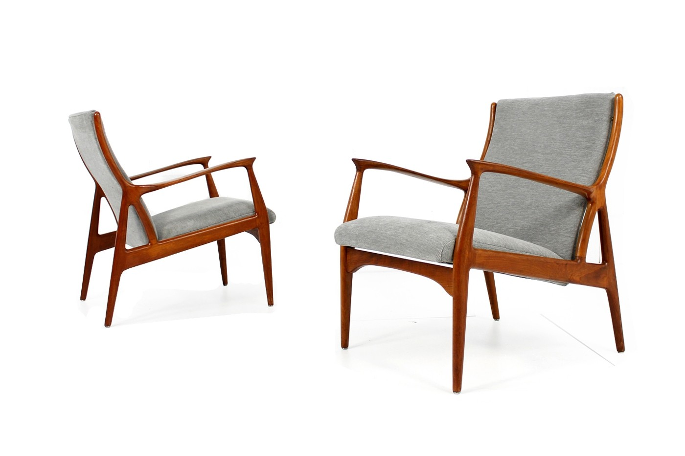 Danish Sessel Pair Of 1960s Danish Teak Easy Lounge Chairs Erik Andersen