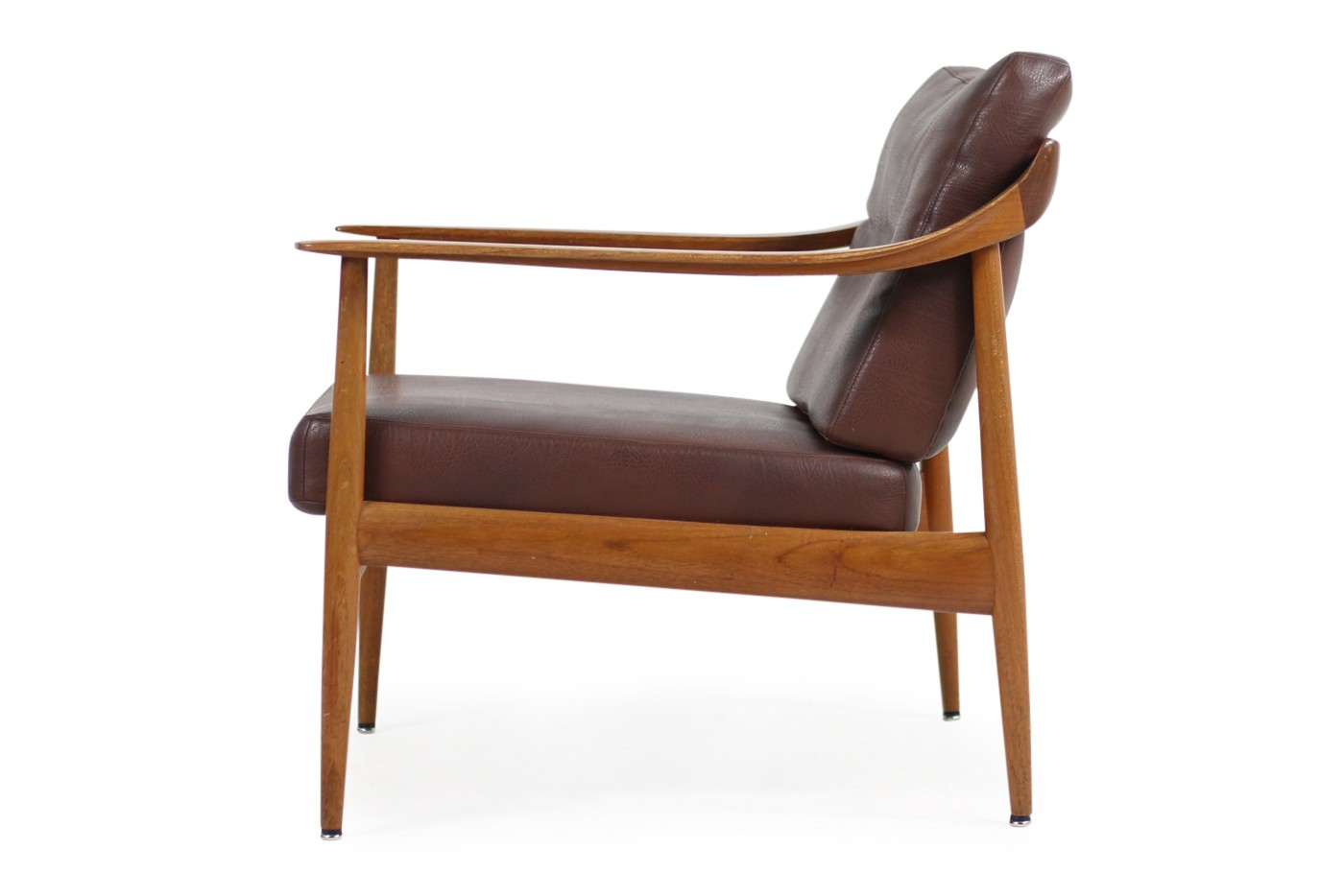 Knoll Antimott Sessel 1960s Easy Chair Teak And Leather Knoll Antimott Mid Century