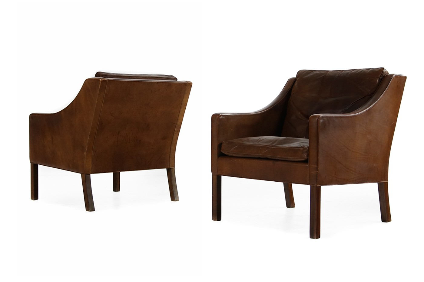 Borge Mogensen Sessel Pair Of 1960s Borge Mogensen Mod 2207 Vintage Lounge Chairs
