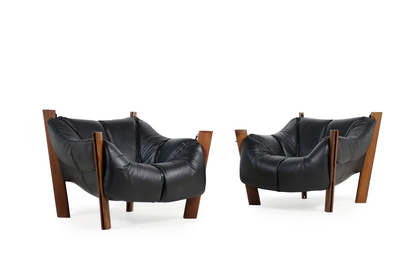 Ledersessel Lounge Pair Of 1970s Brazilian Percival Lafer Leather Lounge Chairs