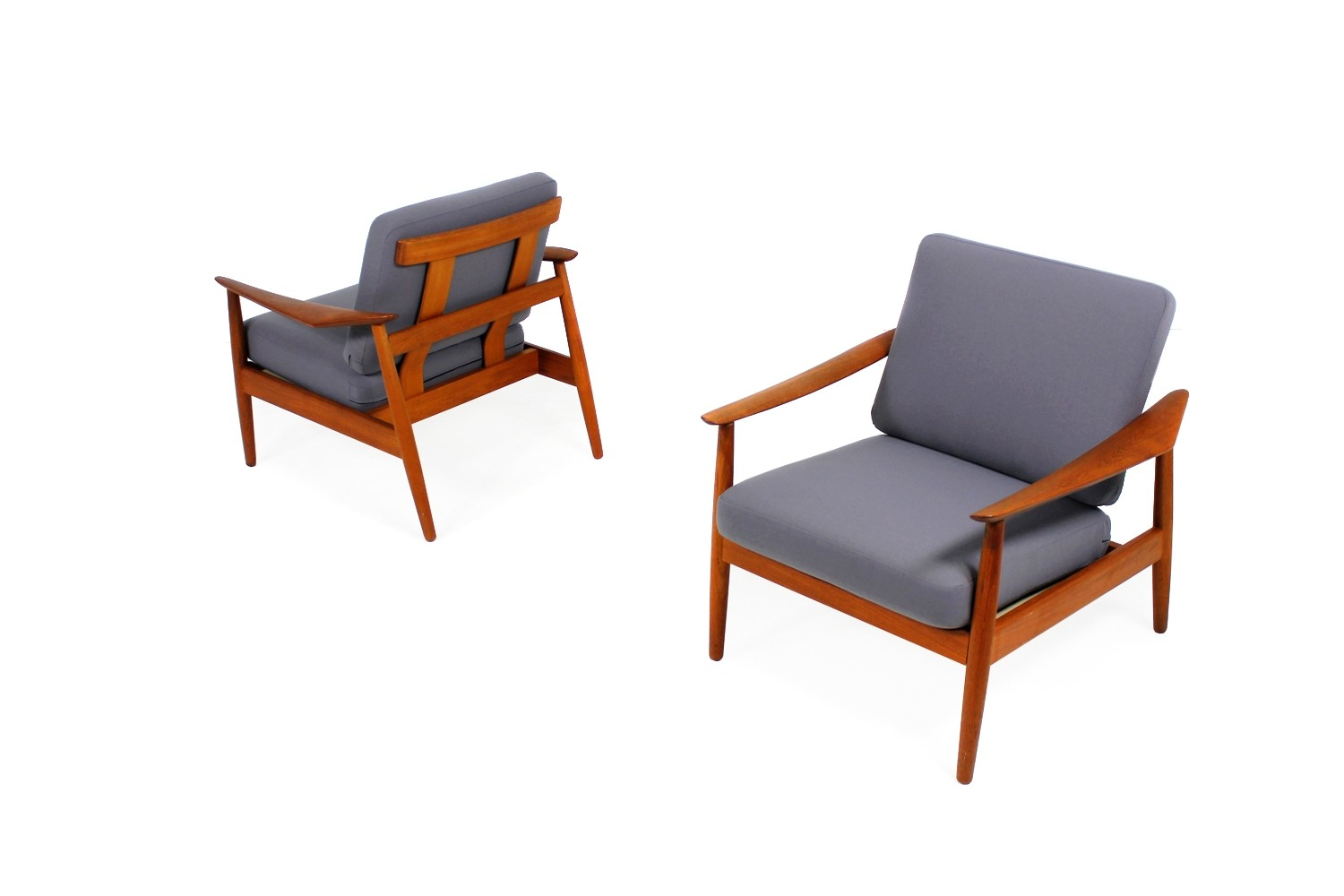 Teak Sessel Danish Pair Of 1960s Arne Vodder Teak Easy Chairs Mod 164 Danish Modern