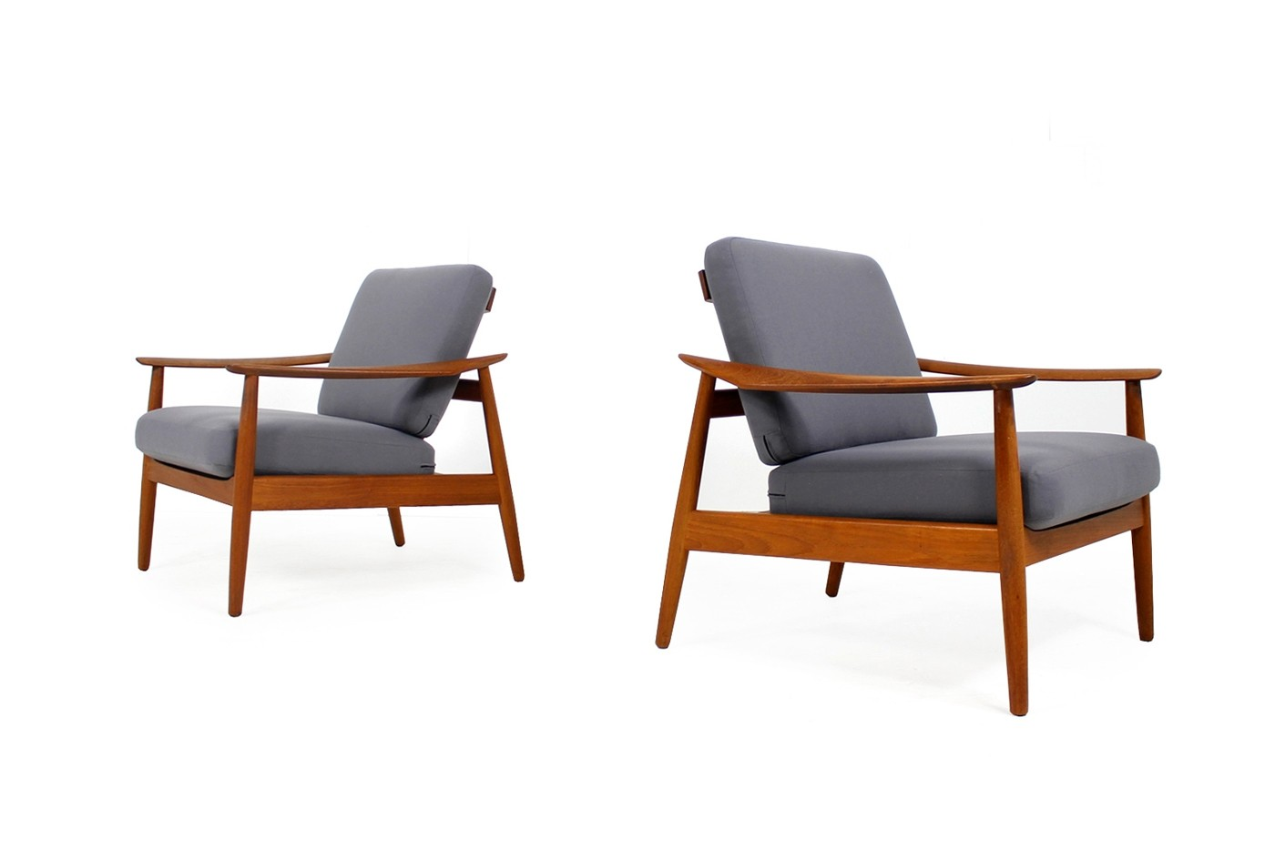 Danish Sessel Pair Of 1960s Arne Vodder Teak Easy Chairs Mod 164 Danish Modern