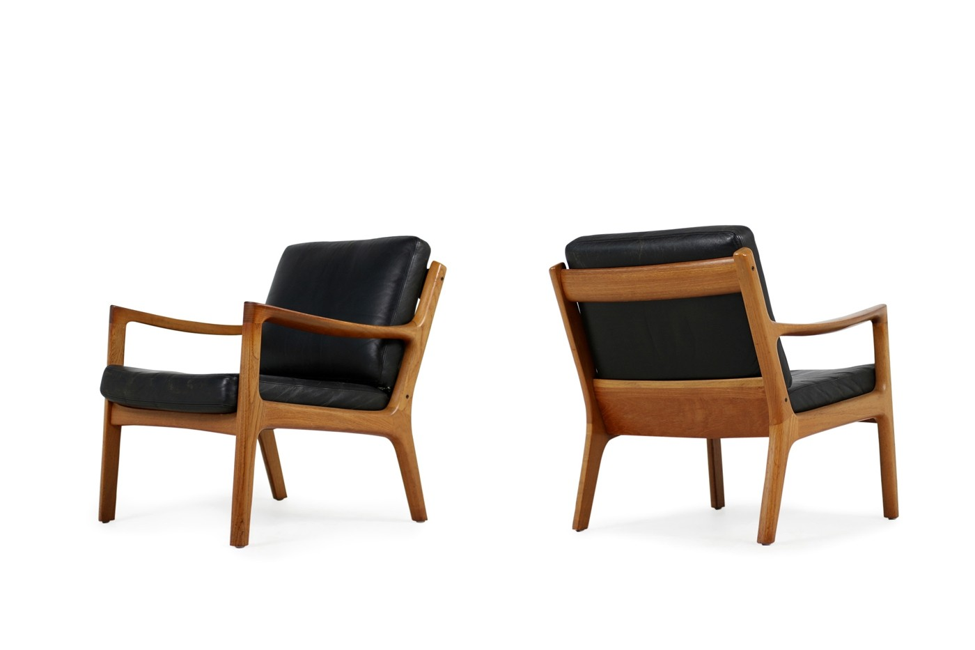 Easy Chair Sessel 1960s Danish Modern Ole Wanscher Easy Chair Teak And Black
