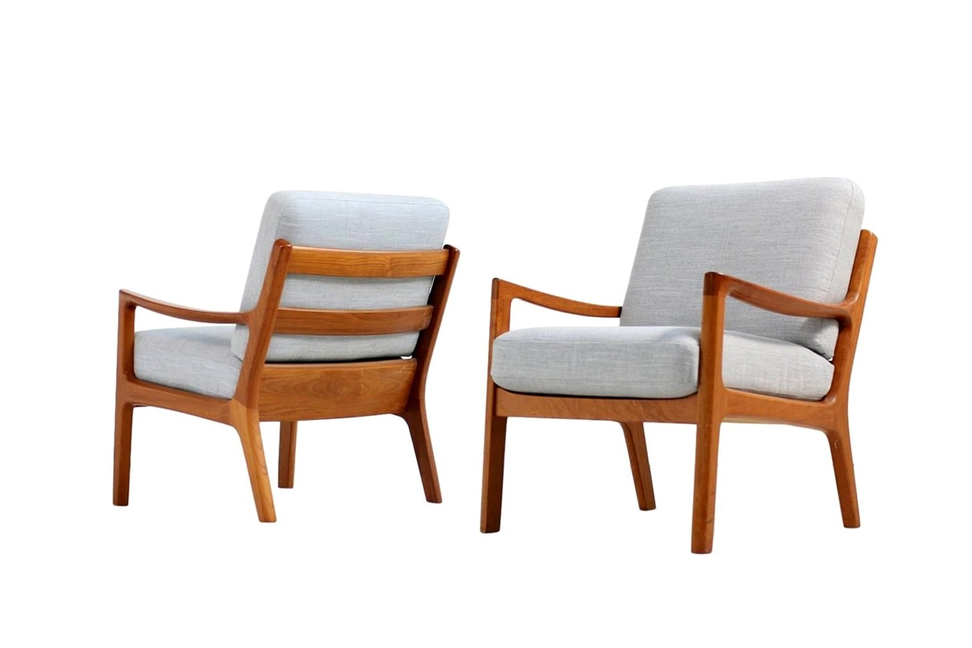 Chair Sessel Pair Of Danish 1960s Teak Easy Chairs By Ole Wanscher Pj Denmark
