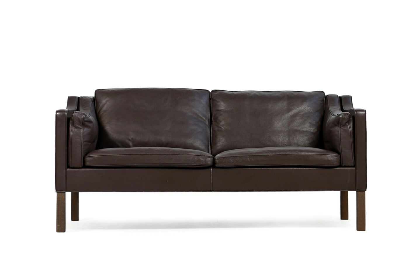 Sofa 60er Stil Brown 1960s Børge Mogensen Leather Sofa Model 2212