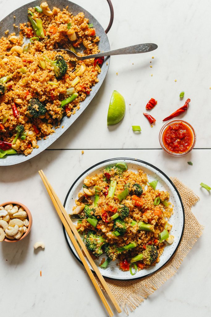 30-Minute Quinoa Fried Rice Minimalist Baker Recipes