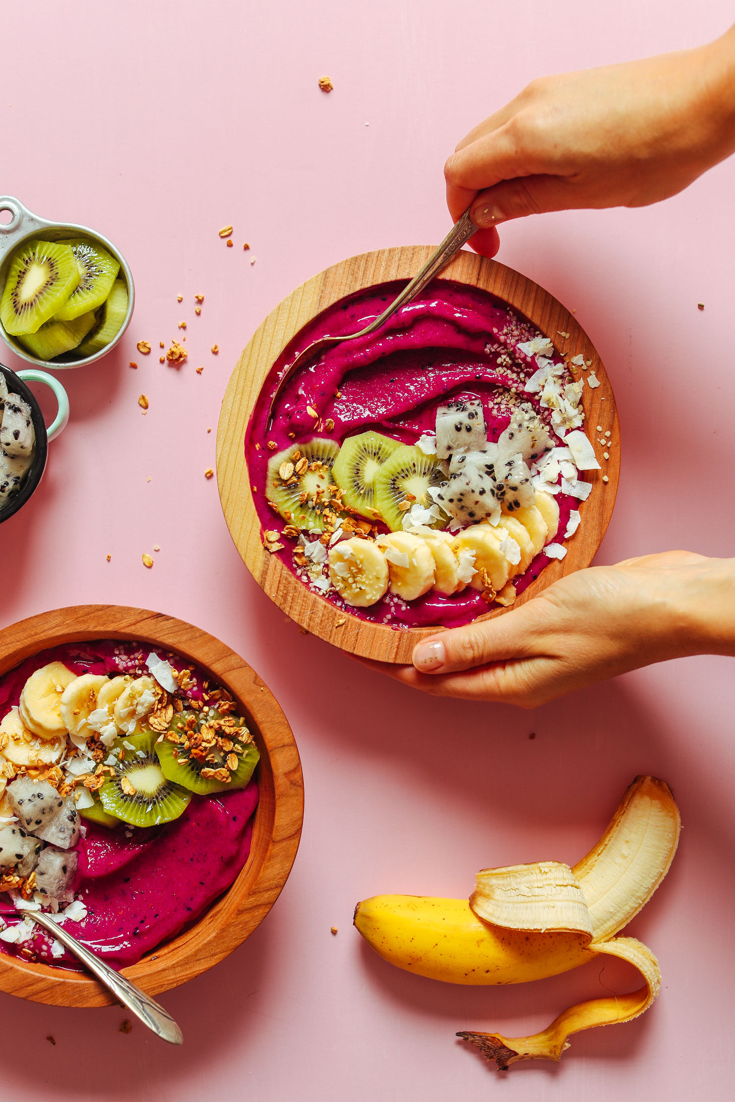Beautiful Fruit Bowls Easy Dragon Fruit Smoothie Bowl Minimalist Baker Recipes