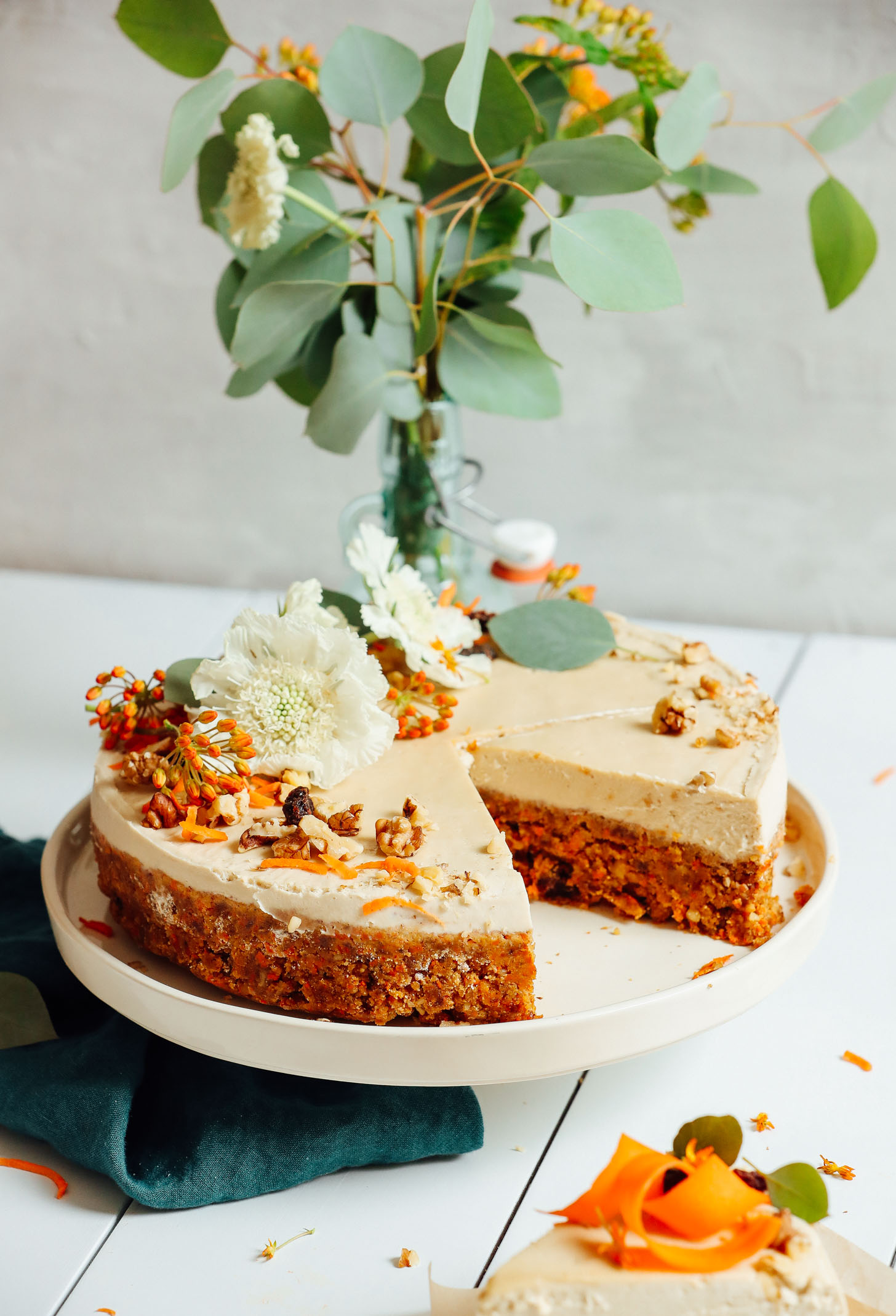 Kuchen Vegan Raw Carrot Cake With Vegan Cream Cheese Frosting