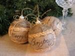 Easy Rustic Christmas Ornaments