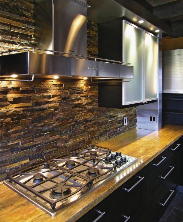 backsplash kitchen ideas natura stone stainless steel appliances kitchens brick backsplash brick wallpaper kitchen kitchen ideas