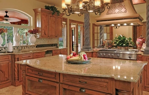 Kitchen Ideas With Light Wood Cabinets Santa Cecilia Granite Countertops For A Fresh And Modern
