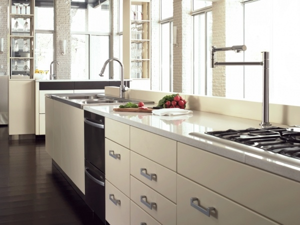 modern kitchen faucets design ideas white kitchen cabinets gas cooktop leatherette brushed stainless steel modern armchairs accent chairs