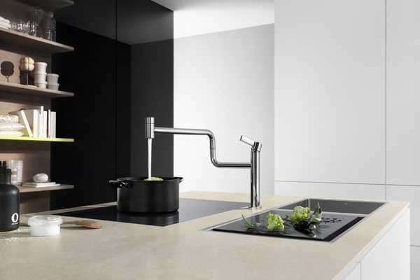 modern kitchen island original faucet contemporary kitchen ideas leatherette brushed stainless steel modern armchairs accent chairs