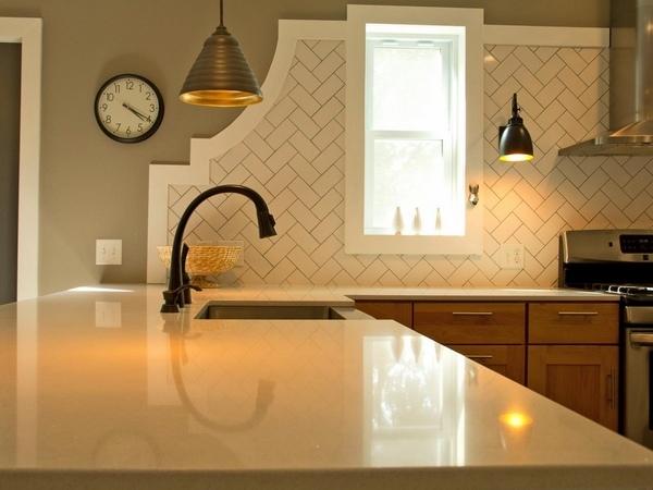 attractive herringbone backsplash cool kitchen decorating ideas modern cool kitchen backsplashes shelterness