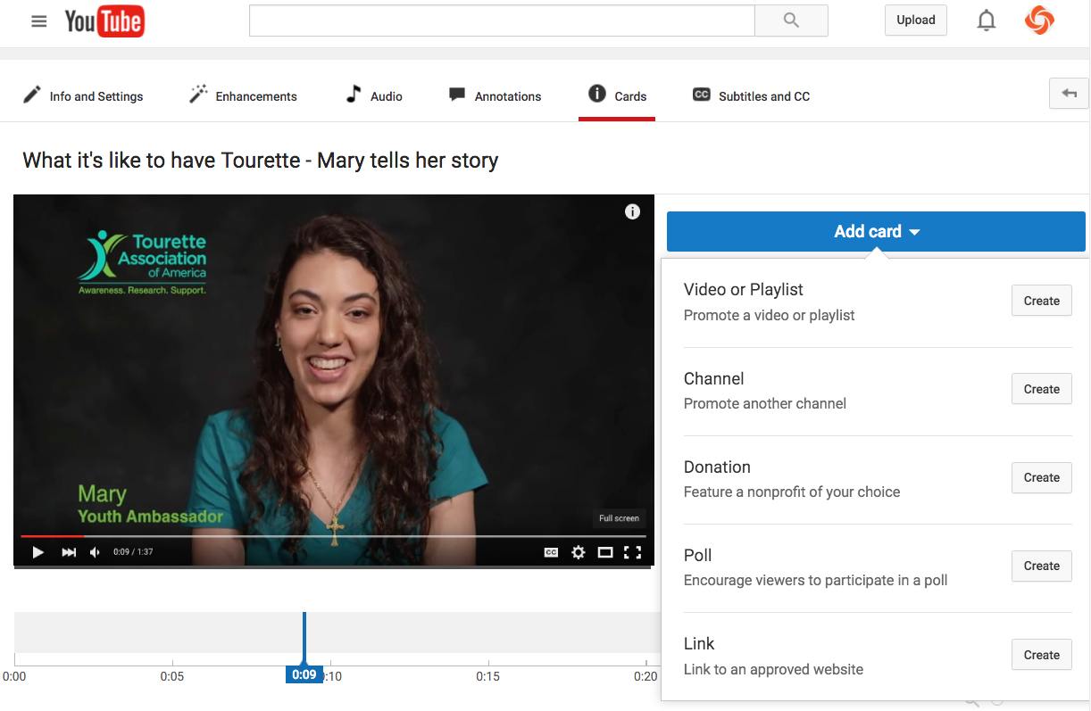 Einrichten Youtube Kanal Add A Youtube Donation Card To Your Video 4 Easy Steps Video