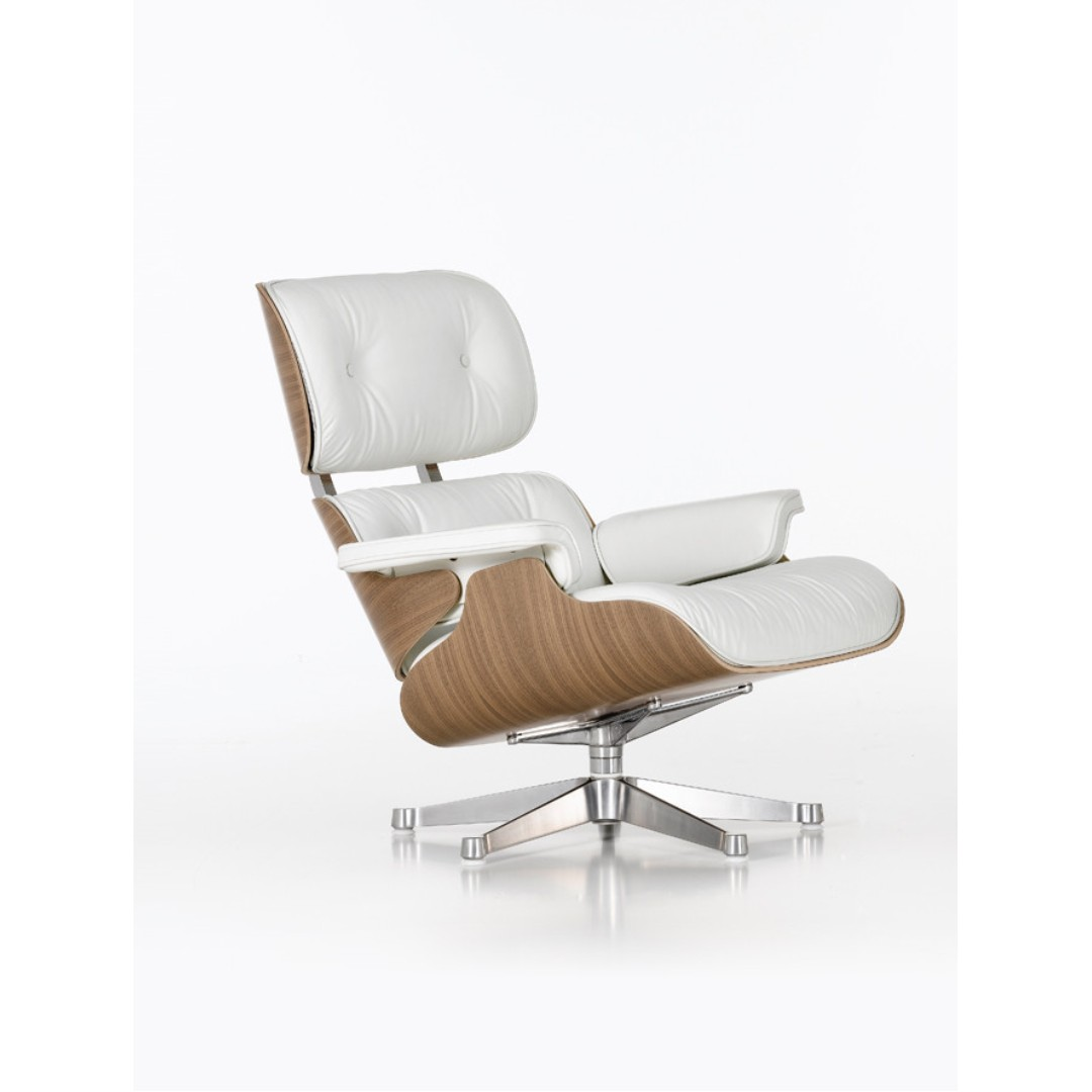 Chair Eames Vitra Eames Lounge Chair-white Pigmented Walnut | Furniture | Minima