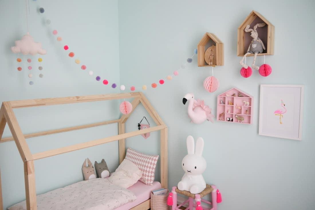 Kinderzimmer Wandgestaltung Grau Rosa Babyzimmer Deko Grau Rosa