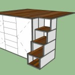 """Originally I had drawers in the steps but I like how this looks with just openings.  I can make some custom baskets in some sort of accent color to fit in each step as needed or just leave it open.  Right now I have a bit over one cubic foot in the top cubby.  Each cubby grows 6"""" as you go down so the bottom cubby is 2'-6"""" deep, 1'-0"""" tall and 1'-4"""" wide.  Should be great for storing blankets and art supplies."""