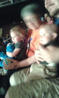 James bought us some Sesame Street Live tickets, Hazel thought it was magical!