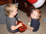singing a birthday song to cousin Timmy