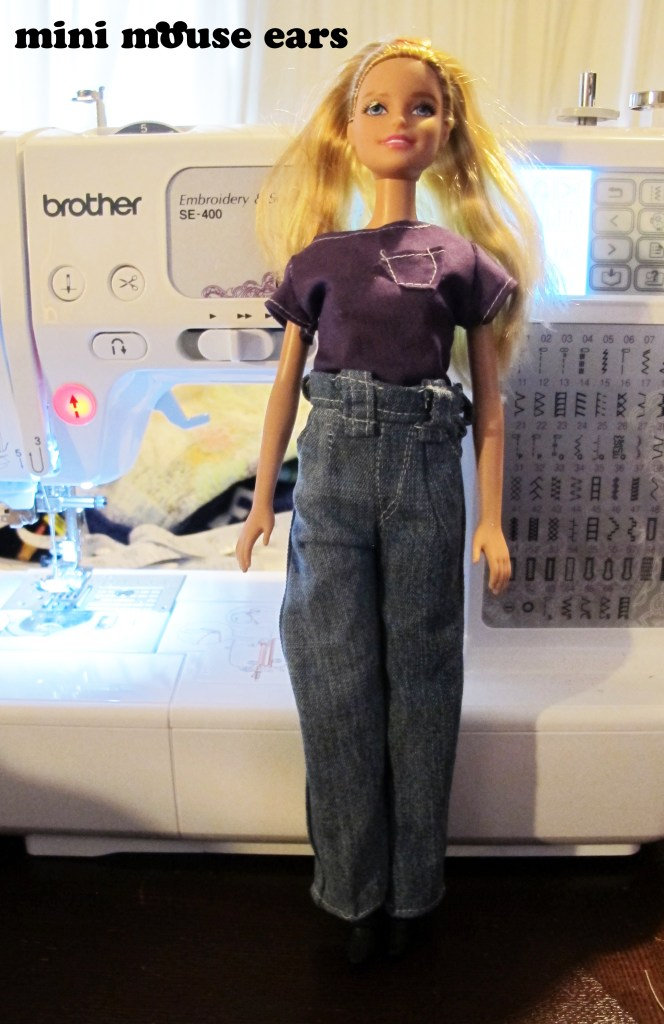 Original Barbie in t-shirt and jeans