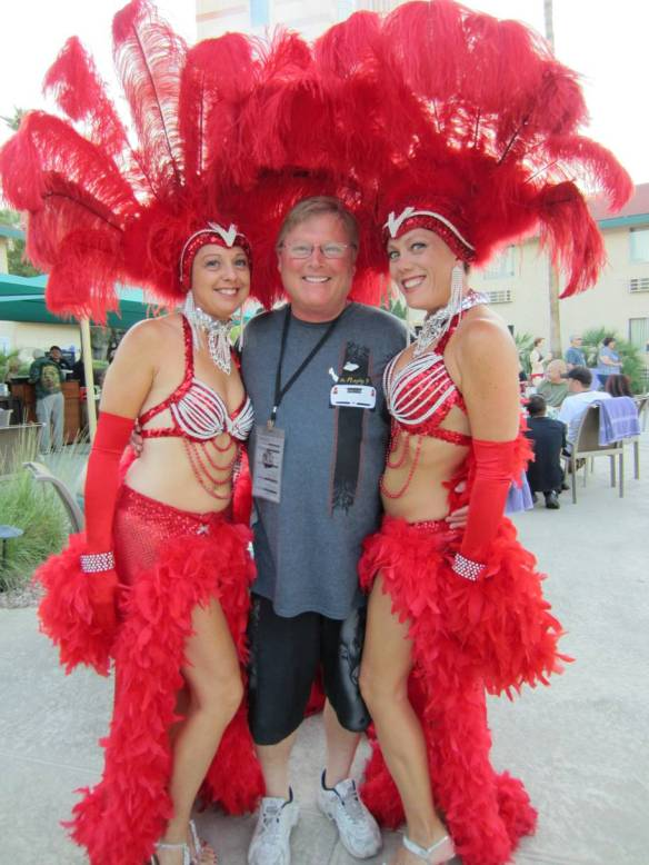 Pictured here are SCMC President Julie Preneta, Miniology Reporter Norm Nelson, and Lisa Surber from last years AMVIV 9