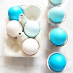 Ombré Blue Dyed Easter Eggs