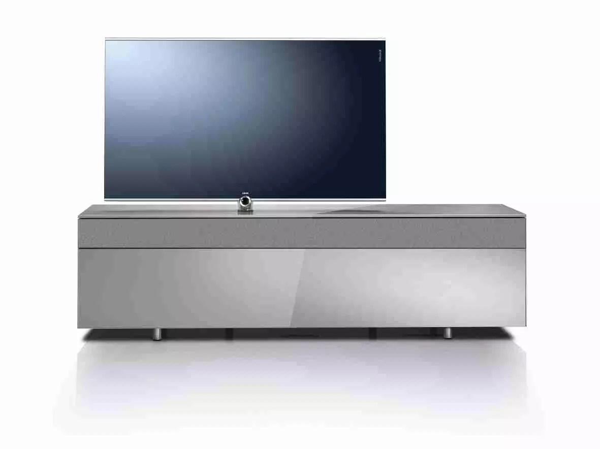 Loewe Rack System Tv Bord 110 30 Black White Chrome Silver