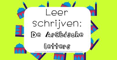 Kinderactiviteit: Arabische letters overschrijven