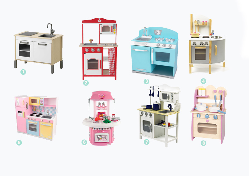 Speelgoed houten keukens ministijl