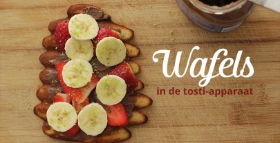 Wafels maken in de tosti-apparaat