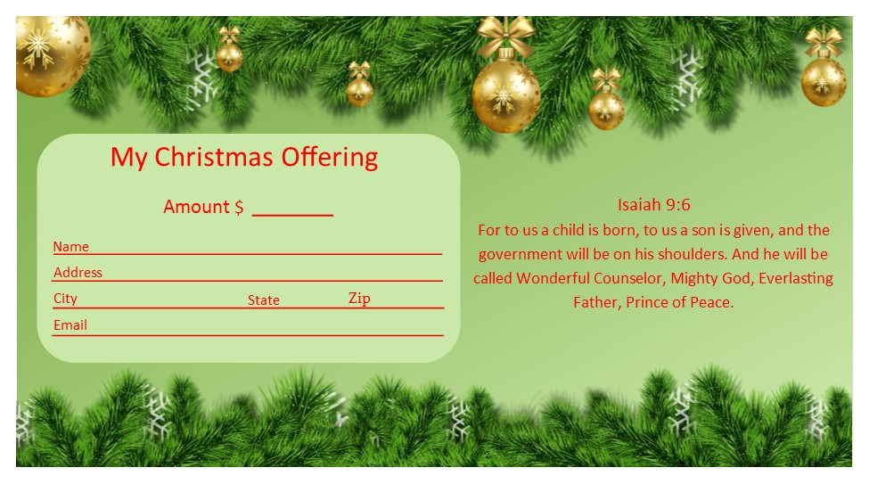 Christmas Offering Templates FREE Publisher Templates #1 - KJV