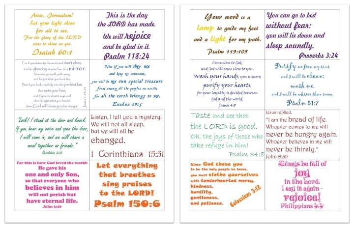 Committed Family Bible Verses (Free Printable Cards)